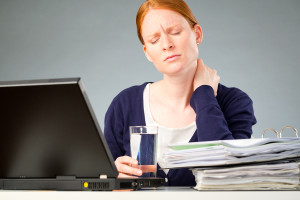 Accountant With Neck Pain