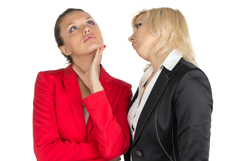Two businesswoman making a dicision